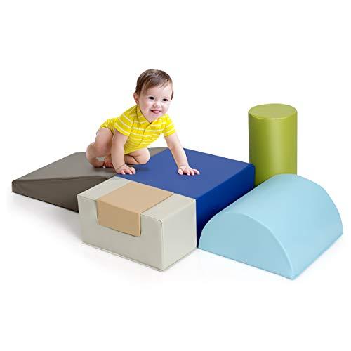 DREAMADE Riesenbausteine 6 TLG., Schaumstoff Bausteinset, Weiche Schaumstoffbausteine für Kinder Baby,...