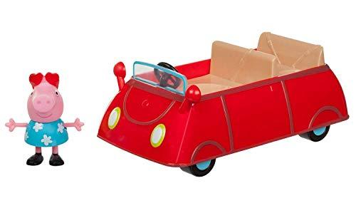 Jazwares 95706 - Peppa Wutz Peppa's kleines rotes Auto, Cabrio mit exklusiver Peppa Spielfigur,...