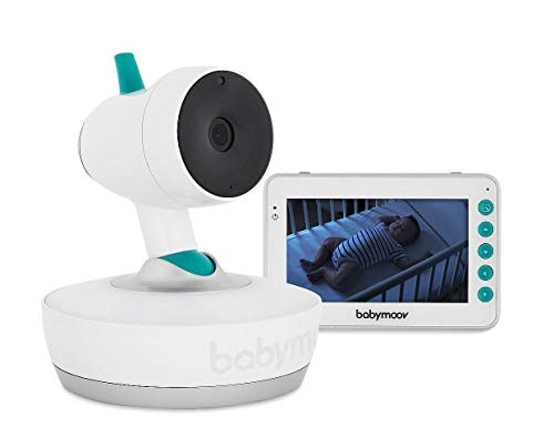 Babymoov Babyphone YOO-Moov - 360 Grad Kamera mit Fernsteuerung, 4,3' Bildschirm