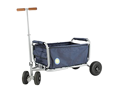 Beachtrekker Life Faltbarer Bollerwagen + Feststellbremse, klappbarer Handwagen (Blau)