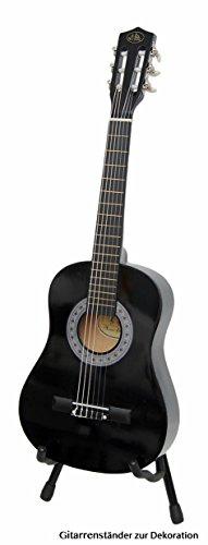 Kindergitarre 1/2 Akustik Klassik Gitarre mit Tasche und Gurt NEU (1/2, Schwarz)