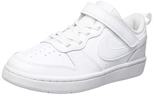 Nike Court Borough Low 2 (GS) Sneaker, White/White-White, 35.5 EU