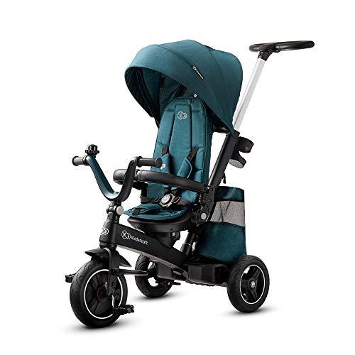 kk Kinderkraft Dreirad EASYTWIST, Kinderdreirad, Jogger, mit Zubehör, Dachfenster, Sicherheitsgurte, 360...