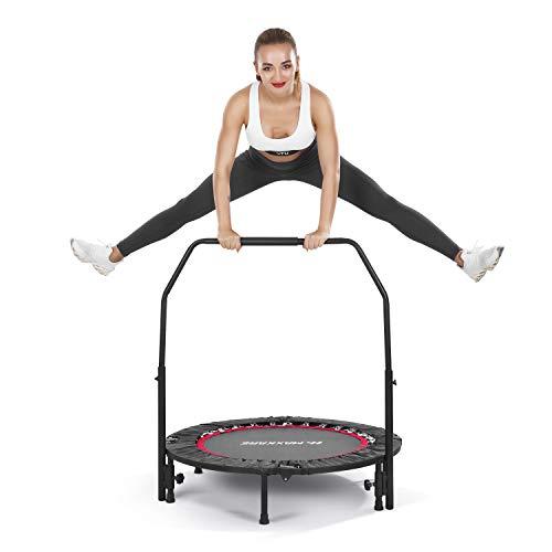 MaxKare 102cm Trampolin Fitness Übung Mini-Trampolin für Kinder Erwachsene Indoor Outdoor | 100kg...