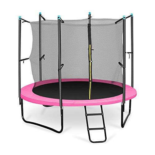 Klarfit Rocketgirl 250 Kinder-Trampolin Gartentrampolin, 250 cm Durchmesser, Sicherheitsnetz,...