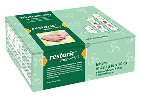 restoric supportiv S Trinknahrung - Eiweißreich - Hochkalorisch - Shake - Lebensmittel für besondere...