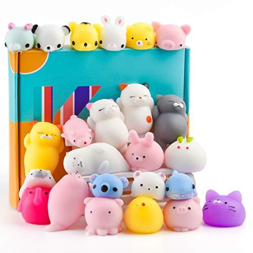 KUUQA 25Pcs Cute Squeeze Animal Toys Squishies Panda Cat Paw Mini Soft Squeeze Stressabbau Spielzeug für...