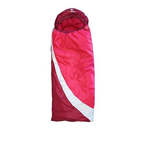 outdoorer DreamSurfer, mitwachsender Schlafsack für Kinder und Jugendliche in blau oder pink - der...