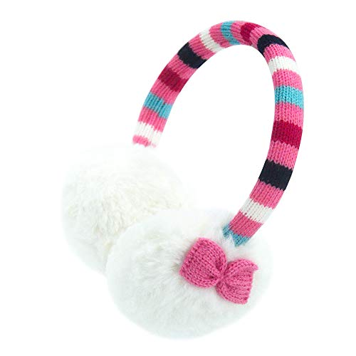 Gifts Treat Ohrenschützer Mädchen Ohrenschützer in Plüsch Cute Design (Rose Gestreift Krawatte)