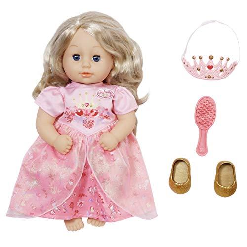 Zapf Creation 703984 Baby Annabell Little Sweet Princess Prinzessinen Puppe mit Haaren und Schlafaugen 36...
