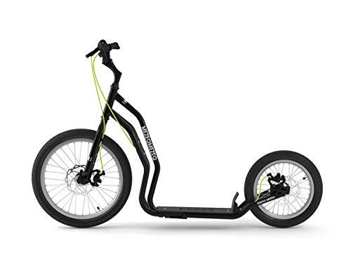 Yedoo Mezeq Tretroller - bis 150 kg, mit Luftreifen 20/16 - Roller Scooter für Erwachsene, Offroad...