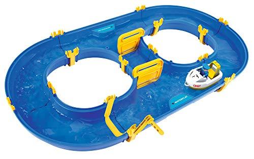 BIG - Waterplay Rotterdam - Wasserbahn blau, 89 x 51,5 x 9,5cm große Bahn, inklusive 1 Boot und 1...