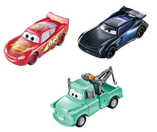 Disney Cars GPB03 - Disney•Pixar Cars Farbwechsel Fahrzeuge 3er-Pack Lightning McQueen, Hook und Bobby...