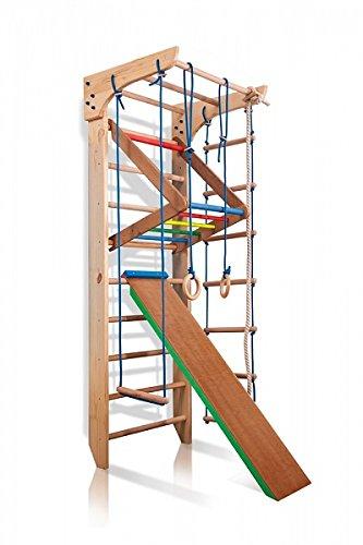 Turnwand Kinder Gym Klettergerüst ˝Kinder-3-220-Farbe˝ Holz Sportgerät Kletterwand Sprossenwand mit...