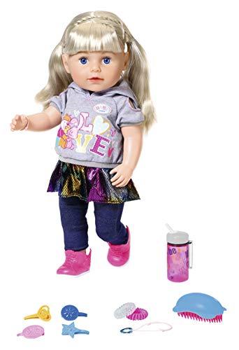 Zapf Creation 827802 BABY born Soft Touch Sister Blond Puppe mit lebensechten Funktionen und Zubehör,...