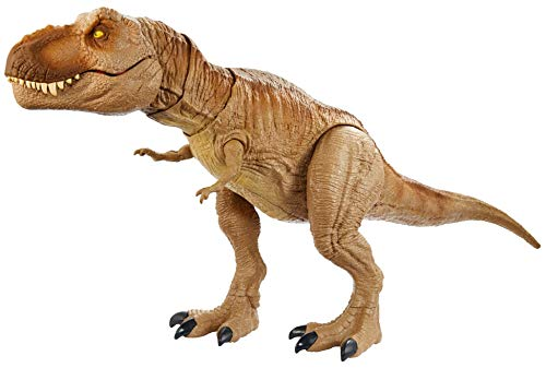 Jurassic World GJT60 - brüllender Kampfaction T-Rex, Actionfigur mit Geräuschen und realistischen...