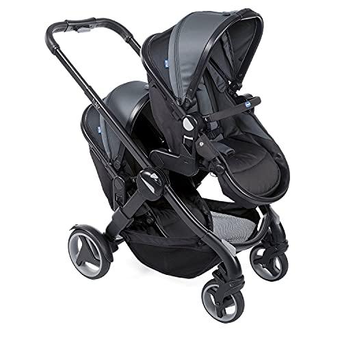 Chicco Fully Twin Doppelkinderwagen von 0 Monaten bis 15 kg, Umwandelbar in Zwillingskinderwagen,...