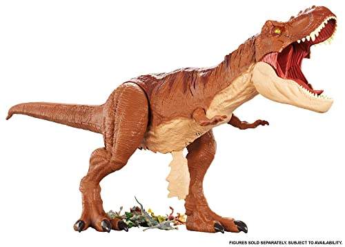 Jurassic World Riesendino Tyrannosaurus Rex FMM63, dinosaurier Spielzeug ab 4 Jahren