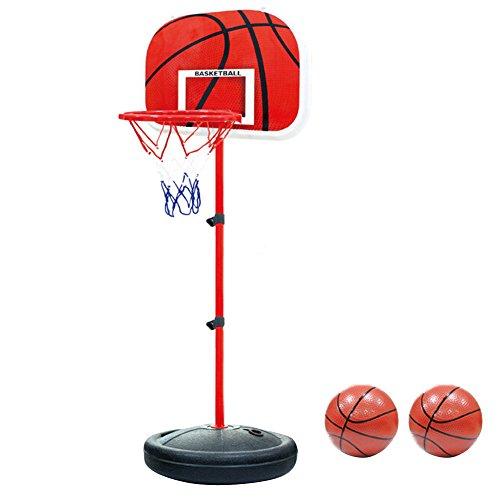 PELLOR Einstellbare Basketballständer, Basketballkorb mit Ständer Höhenverstellbar...