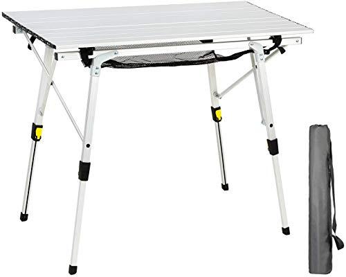 EVER ADVANCED Aluminium Campingtisch klappbar Klapptisch faltbar tragbar leicht Falttisch Tischbein...