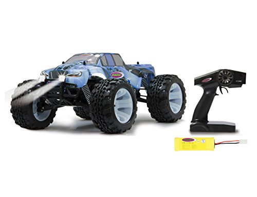 Jamara Tiger Ice Monstertruck 1:10 4WD NiMh 2,4G LED - Allrad, Elektroantrieb, Akku, 35Kmh, Aluchassis,...