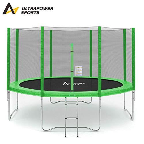 ULTRAPOWER SPORTS Fitness Trampolin/Gartentrampolin 305 cm 10ft mit Sicherheitsnetz Innennetz und ideal...