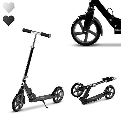 Lionelo Luca Roller Kinder, Stunt Scooter, Tretroller bis 100 kg, Räder 200mm, einstellbares Lenkrad,...