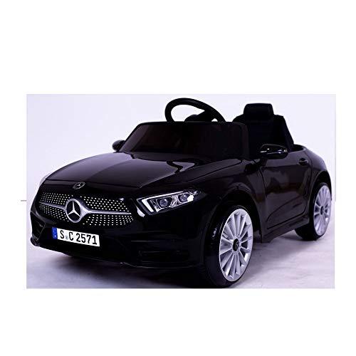 crooza Mercedes-Benz CLS350 Kinderauto Schwarz Kinder Elektro Elektrofahrzeug mit Fernbedienung mp3, USB,...