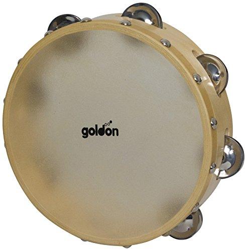 Goldon 35325 Tamburin mit 7 Paar Schellen