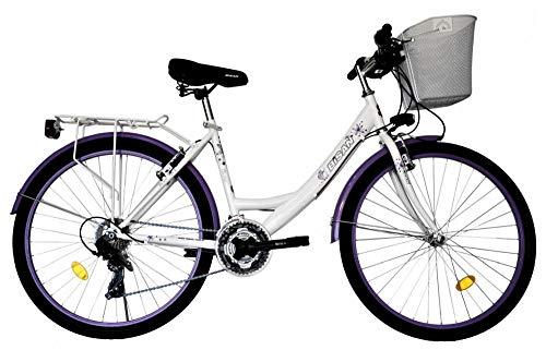 T&Y Trade 24 Zoll Kinder Mädchen Damen City Fahrrad Damenfahrrad Cityfahrrad Citybike Mädchenfahrrad...