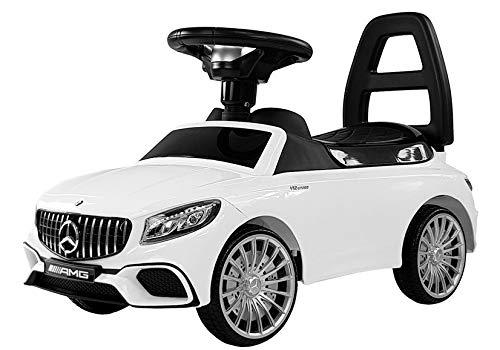 COIL Mercedes-Benz S AMG 65 Rutschauto LED Rutscher Kinderfahrzeug Kinderauto Lizenz NEU (Weiss)