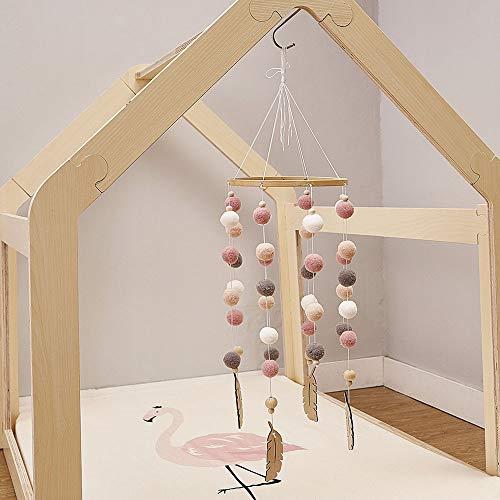 Cozyhoma Baby Mobile Filzball Mobile Kinderzimmer Decke Mobile Windspiel Bett Glocke Rassel Spielzeug...