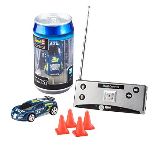 Revell Control 23561 Mini RC Racing-Car aus der Dose mit 27MHz-Fernsteuerung inkl. Ladefunktion,...