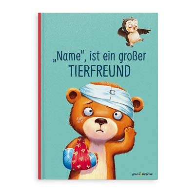 YourSurprise Personalisiertes Kinderbuch: großer Tierfreund., Kinderbuch mit Namen PERSONALISIERBAR,...