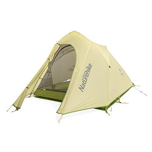 Naturehike Cirrus 2 Personen Zelt 20D Silikon Stoff F doppelten 3 Saison Camping hking Zelt (grau/grün)