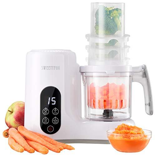 Multifunktions-Babynahrungszubereiter 6-in-1 - Dampfgarer, Mixer, Pulse, Automatische Reinigungsfunktion,...