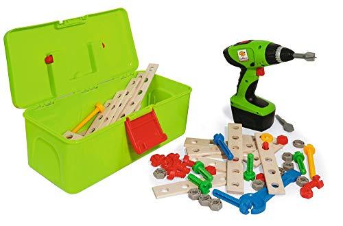 Eichhorn 100039079 Constructor Werkzeugbox, inkl. kompakt Schrauber, Erweiterungsteile, 70 teilig, FSC...