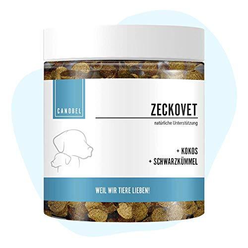 Canobel Zeckovet natürliches Leckerli für Hunde mit Kokosöl & Schwarzkümmelöl I Getreidefrei,...