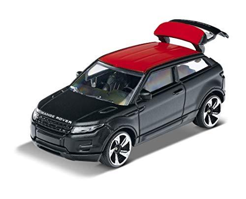 Majorette Premium Range Rover Evoque, Spielzeugauto, Freilauf, zu öffnende Teile, Federung, Sammelkarte,...