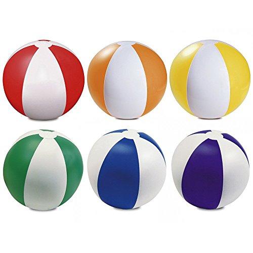 eBuyGB Packung mit 6 aufblasbaren Farben Wasserball Pool-Spiel, gemischte Farben, 22 cm / 9 '