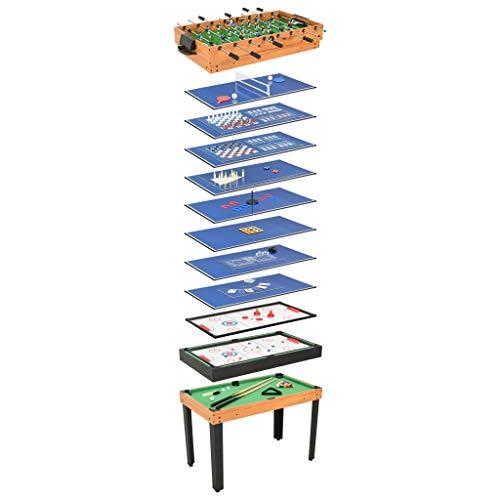 vidaXL Multigame Spieletisch 15-in-1 Tischfußball Kicker Billard Hockey Spieltisch Tischtennis...