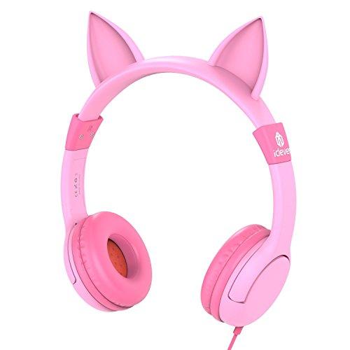 Kopfhörer Kinder, iClever Kopfhörer für Kinder mit Lautstärke Begrenzung, Mädchen Kinder Kopfhörer,...