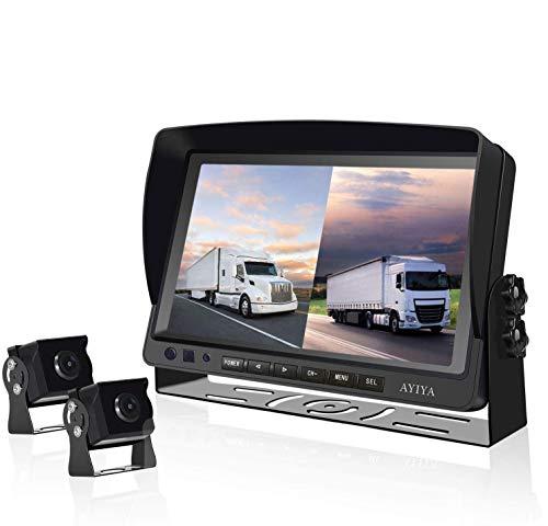 """Dual Recording Rückfahrkamera-Set, mit 9"""" Split IPS LCD Kfz-Monitor, & 2 * 175° Weitwinkel –..."""