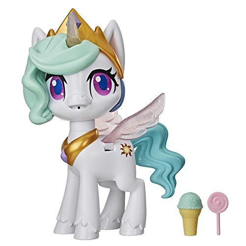 My little Pony E9107 Küsschen Einhorn Prinzessin Celestia, Interaktive Einhornfigur mit 3...