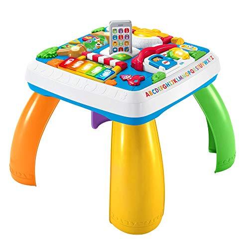 Fisher-Price HBB67 - Lernspaß Spieltisch, Musik-Spieltisch, deutsche Sprachversion, für Babys und...