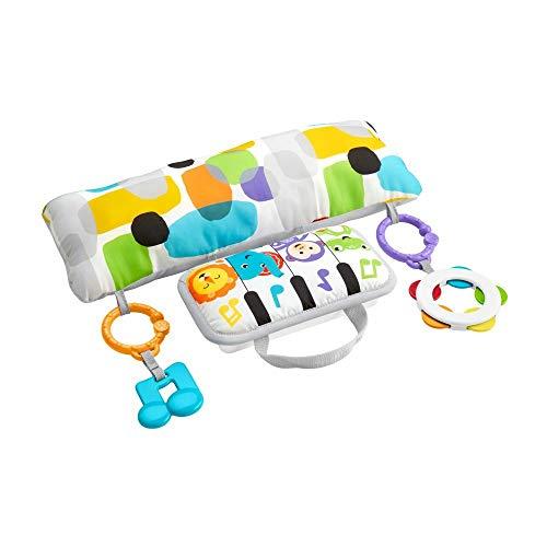 Fisher-Price GJD27 - Musik Spielkissen, Musikspielzeug zum Spielen in der Bauchlage, Babyausstattung ab...