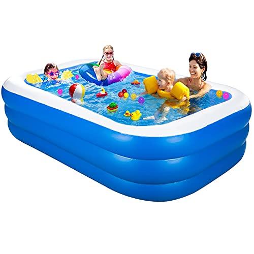 Aufblasbarer Pool, Großer Family Pool, Kinderpool für Schwimmen Spielen Schlafen, Schwimmbecken...