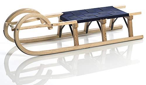 Sirch Hörnerschlitten Standard Plus mit Gurtsitz (Länge: 115 cm, esche lackiert 3 Bockstützen)