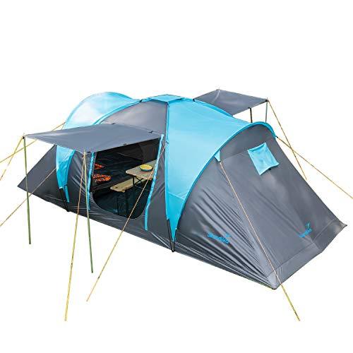 Skandika Kuppelzelt Hammerfest Protect für 4 Personen | Campingzelt mit eingenähtem Zeltboden, 2 m...