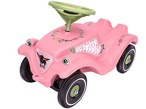 BIG-Bobby-Car Classic Flower - Kinderfahrzeug mit Blumenaufklebern für Jungen und Mädchen, belastbar...